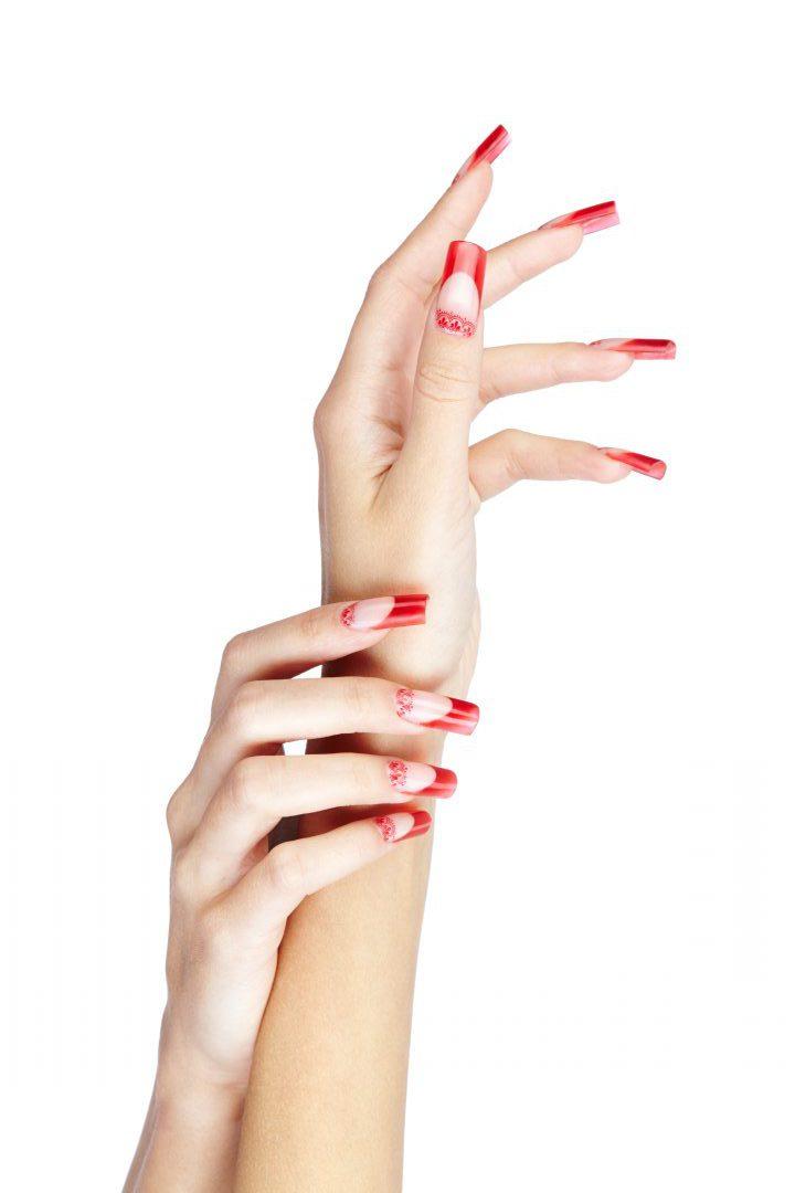ricostruzione unghie rosso